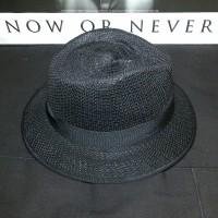 topi wanita keren Fedora Panama Trilby Style Summer Sun Straw Hat Cr f52e293a63