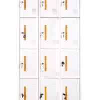 Metal Locker Sterling 12 Doors Yellow and White