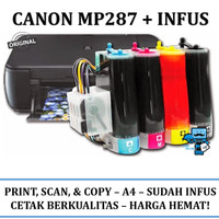 Printer Infus Canon Pixma MP 287 MP287 Inkjet all-in-one + SUDAH INFUS