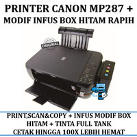 Printer Infus Canon MP287 Inkjet all-in-one + INFUS BOX HITAM RAPIH