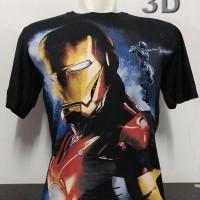 kaos baju distro superhero marvel IRONMAN 3D