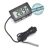 Digital Thermometer with Probe for Aquarium 1m termometer kulkas