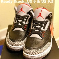 Nike Air Jordan 3 OG Black Cement 2018 UK 8.5 / US 9.5