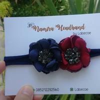 Headband baby nylon USA / bandana bayi / twin flower