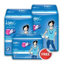 Buy 2 Get 1 Free - Kotex Soft & Smooth Maxi Plus Wing (16 pcs)