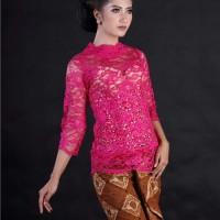 Harga atasan kebaya pengantin brokat fuchsia baju wisuda kebaya | antitipu.com