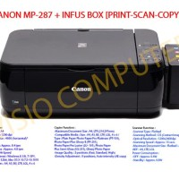 Printer Canon MP287 + Infus Box Elegan catridge compatible Canon MP287