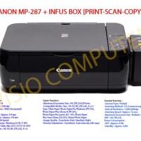 Printer Canon MP287 + Infus Box Elegan catridge compatible Canon MP287