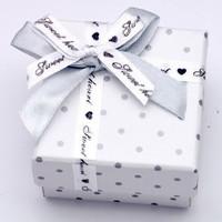 gift box tempat cincin anting hadiah love cute kotak packaging silver
