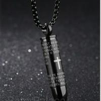 Kalung Bullet Pendant Padre Nuestro (Doa Bapa Kami bahasa Spanyol)