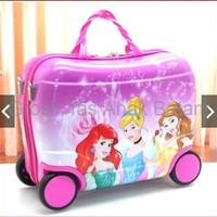 Tas Trolley Troli Anak Sekolah Fiber Princes Ungu Tas Koper Travel G