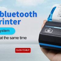 POS Bluetooth Printer Termal Nirkabel u/ Smartphone Android IOS & PC