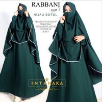 Gamis set Syar'i Rabbani Dark Series (Free Cadar) ORI INTANAKA