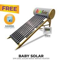 FREE ONGKIR+KAMERA FUJIFILM BABY SPR 200L SOLAR WAVE WATER HEATER