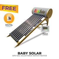 FREE ONGKIR+GIFT BABY SPR 100L SOLAR WAVE WATER HEATER