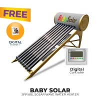 FREE ONGKIR+GIFT BABY SPR 68L SOLAR WAVE WATER HEATER