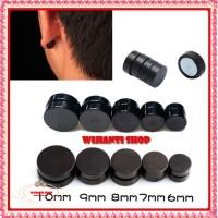 Buy 1Get1 Hi Quality Anting Magnet Anting Pria Jepit hitam bulat