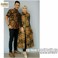 Couple batik / dress batik modern couple maxi cardi manggar