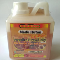 Madu Hutan Kalimantan Plus Bee Pollen dan Royal Jelly Ukuran 500 Gr