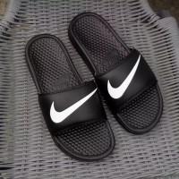 c94e8ed2879d5e Sandal Nike Flip Flop Benassi Swoosh Motif Black Original