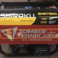 Genset 5000 Watt, Bensin Murni- Shiraku 7500 (100% TEMBAGA, AVR)