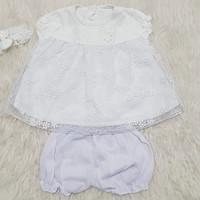 Pakaian Bayi Perempuan Baju & Sepatu Anak Aqeqah Putih Newborn AGC0112