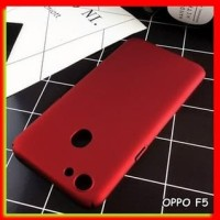 AKSESORIS HP FOR OPPO F5/F5 YOUTH, F3, A71 - HARD CASE RED BLACK MATTE