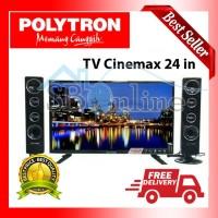 POLYTRON CINEMAX LED TV WITH TOWER SPEAKER - PLD24T8511 DISKON