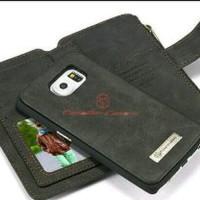 Dompet Kulit HP untuk Samsung S6 Edge dengan Slot Kartu Promo