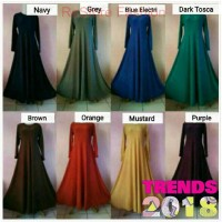 Gamis polos Jersey Zoya Size fit to xl 1 kg isi 3(beli 3 lebih