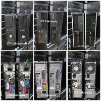 Komputer murah bekas core 2 duo branded Dell lenovo hp desktop slim