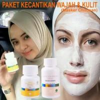 Paket Kecantikan Kulit dan Wajah Vitaline + Masker Chitosan Tianshi