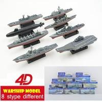 Diecast miniatur Kapal Perang 8 set