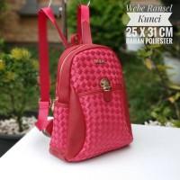 Tas Ransel Tas Sekolah Kuliah Branded Webe Ransel Kunci Merah