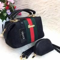 Tas Wanita Murah Branded Gucci Doctor Monalisa Hitam