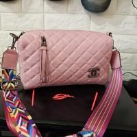 Tas Wanita Branded Real Pict Murah Chanel Tabung Baby Pink