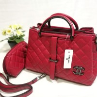 Supplier Tas Batam Import Termurah Chanel 3 Ruang Terbaru Free Pouch