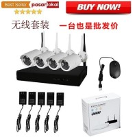 Wireless NVR Kit HD P2P with 4 WiFi IP Camera CCTV 720P CMOS