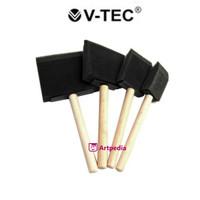V-Tec Foam Brush / Kuas Busa / Spons Kotak Set 4 - Sponge