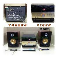 paket karaoke speaker aktif tanaka tiger dvd player bluetooth audio