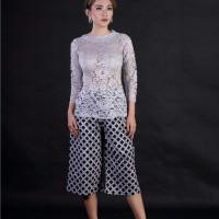 Harga baju pesta wanita atasan kebaya abu abu kebaya pengantin brokat | antitipu.com