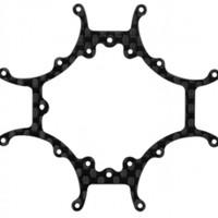 Rakonheli CNC 3K Pure Carbon Fiber Main Frame Tiny Whoop (1.0mm)