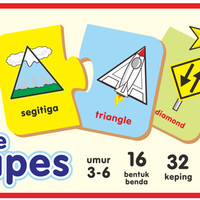 "Mainan Edukasi/Edukatif Anak- Kartu Edukasi/Edufun ""The Shapes"""