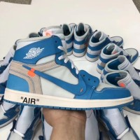 NIKE AIR JORDAN 1 X OFFWHITE NORTH CAROLINA (UA)