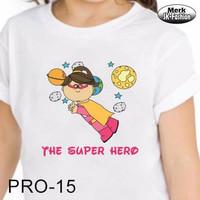 Kaos Remaja Profesi Super Hero (PRO-15)/ Kaos Super hero untuk dewasa