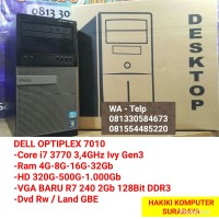 PC CPU Komputer Built Core i7 Ram 8Gb Vga 2Gb D3 Siap Game Desian
