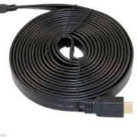 Kabel HDMI 10 Meter Flat For PS3,LCD TV,Komputer,Projector dll