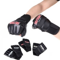 Sarung Tangan Tinju Boxing MMA Muay Thai PU Leather Half Mitts