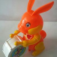 Mainan Kelinci Marching Band Tarik Berjalan
