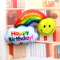 Jumbo Foil Rainbow Happy Birthday & Have A Nice Day